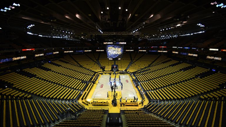 A view of the Oracle Arena prior to Game 2 in the first round of the Western Conference playoffs between Golden State Warriors and LA Clippers