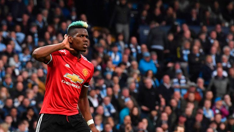 Paul Pogba scored twice in two minutes against Man City last April to help Manchester United win 3-2 and put City's title on ice at the Etihad