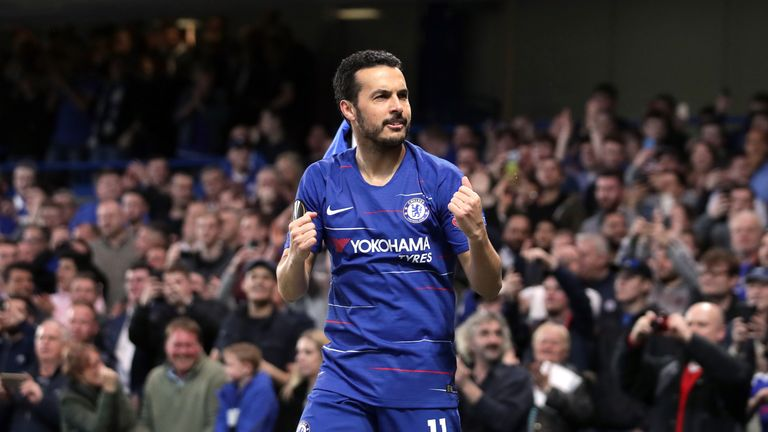 Pedro scored twice and assisted another against Slavia Prague on Thursday night