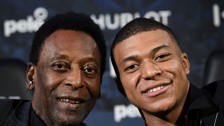 Pele joined Kylian Mbappe at an event in Paris prior to falling ill