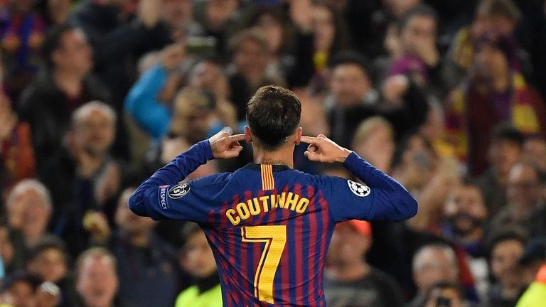 Philippe Coutinho Barcelona v Man Utd