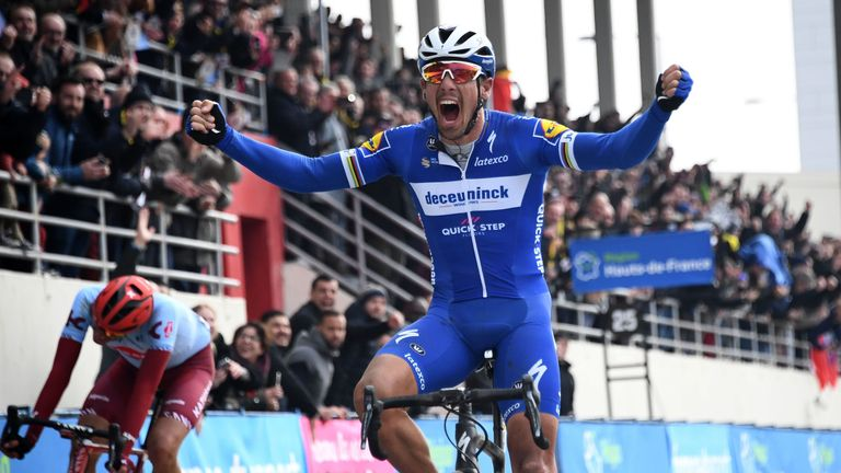 Belgium's Philippe Gilbert has won the 117th edition of the Paris-Roubaix one-day classic