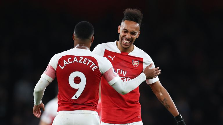 Pierre-Emerick Aubameyang and Alexandre Lacazette have scored 37 goals this season