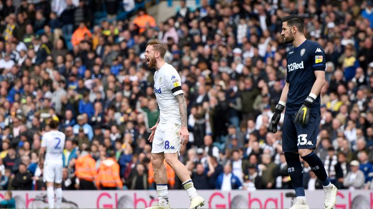 Pontus Jansson vents his frustration after Aston Villa were allowed to level the score