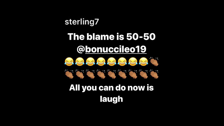 Raheem Sterling posted on his Instagram account