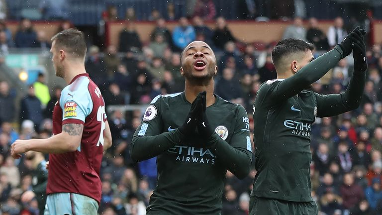 Manchester City dropped two points at Burnley last season