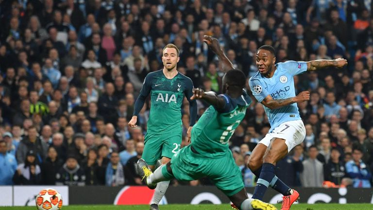 Raheem Sterling scores in stoppage-time - but the goal was cancelled out