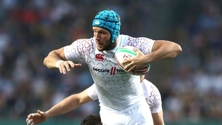 Richard de Carptentier charges forward during England's win over Wales