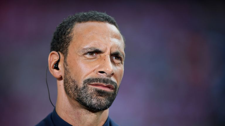 Rio Ferdinand during the Emirates FA Cup Final between Arsenal and Chelsea at Wembley Stadium on May 27, 2017 in London, England.