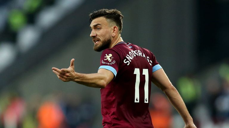 Robert Snodgrass' suspension is not currently active while he considers his right of appeal