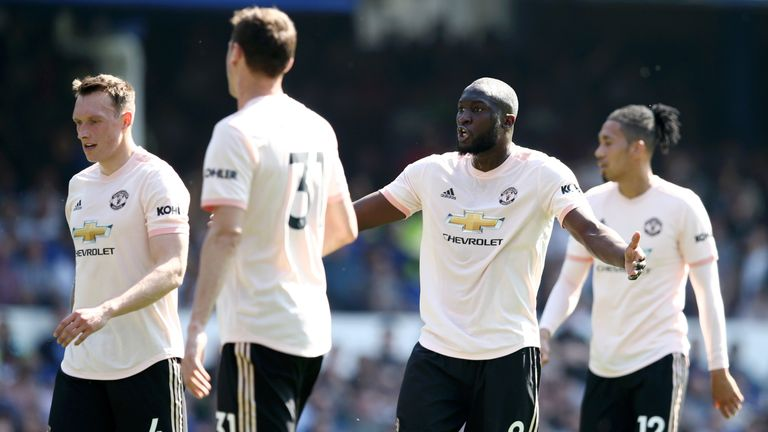 Romelu Lukaku, Manchester United, Premier League vs Everton at Goodison Park