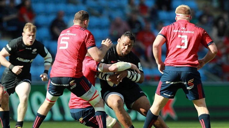Billy Vunipola scored a try during Saracens' victory over Munster