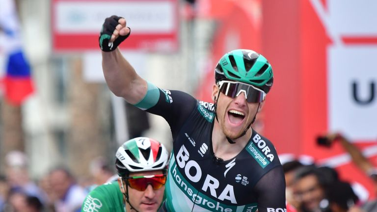 Sam Bennett in action for the Brora-Hansgrohe team