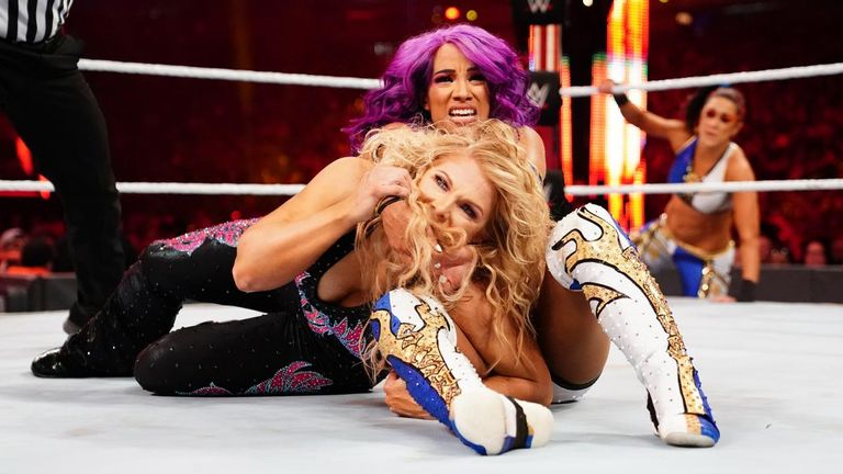 Beth Phoenix paired up with Natalya to challenge Sasha Banks & Bayley for the WWE women's tag titles