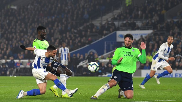 Cardiff are two points behind Brighton following their 2-0 win on Tuesday