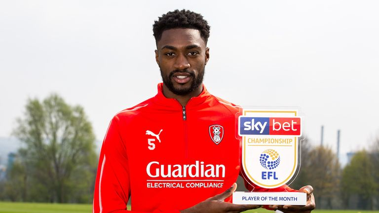 Rotherham midfielder Semi Ajayi is the Sky Bet Championship Player of the Month for March