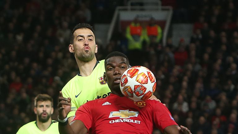 Pogba is hoping to help Manchester United pull off a shock against Barcelona in the Nou Camp on Tuesday