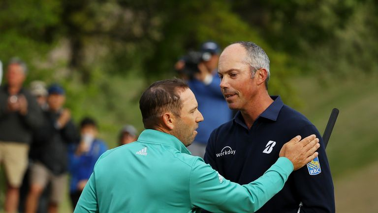 Sergio Garcia and Matt Kuchar produced a notable talking point at the WGC-Dell Technologies Match Play
