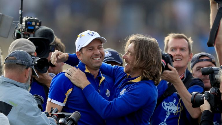 Garcia and Fleetwood were both part of Thomas Bjorn's Ryder Cup side at Le Golf National