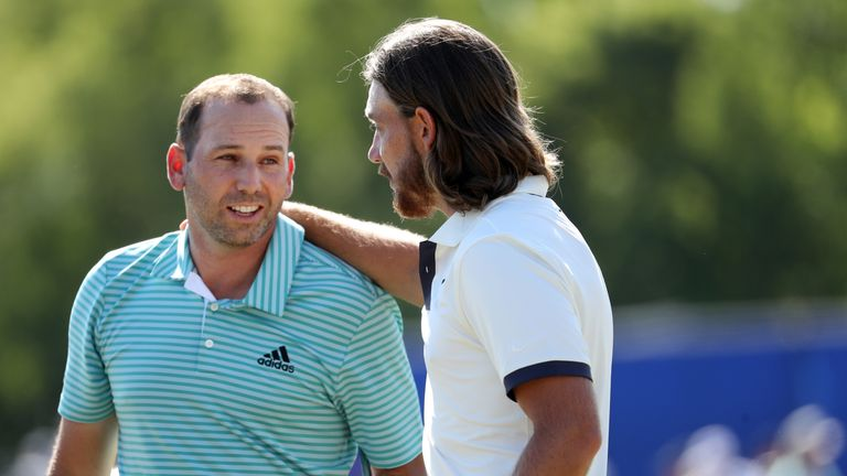 Sergio Garcia and Tommy Fleetwood finished strongly to earn outright second