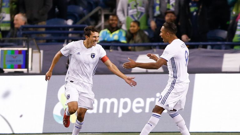 Shea Sanilas scored twice for San Jose before they were pegged back