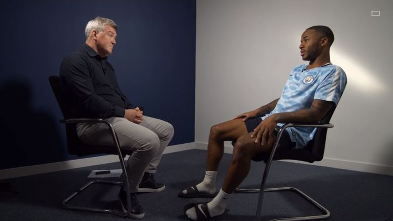 Raheem Sterling told Geoff Shreeves harsher action is needed to stop racism in football