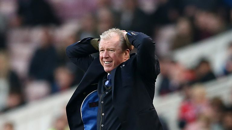 Queens Park Rangers manager Steve McClaren reacts during the Sky Bet Championship match against Middlesbrough at the Riverside Stadium on February 23, 2019
