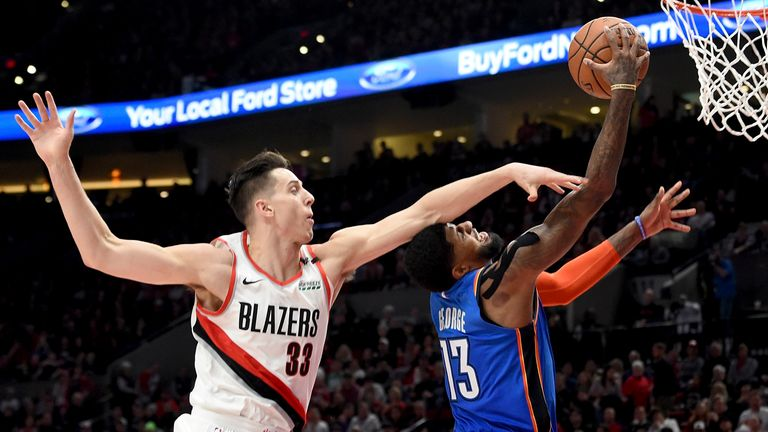oklahoma City Portland at Moda Center on April 14, 2019 in Portland, Oregon.