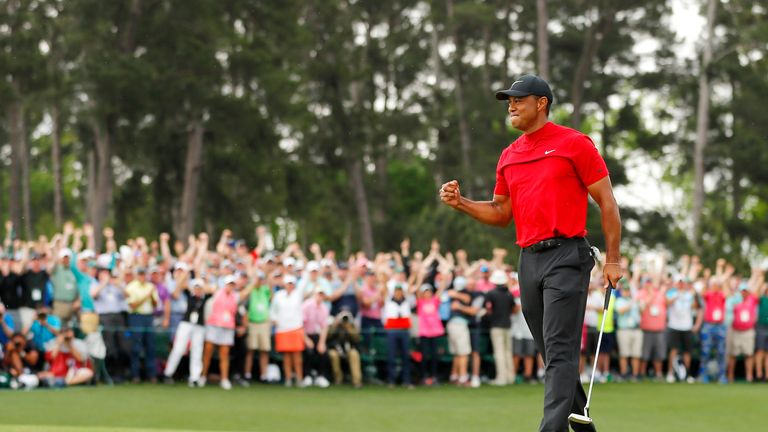 Masters champion Tiger Woods is scheduled to tee off at 1.24pm on Thursday