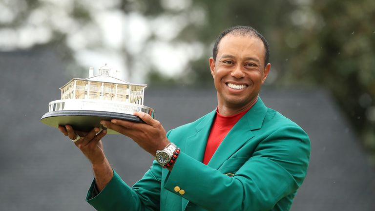 Woods' previous Masters wins came in 1997, 2001, 2002 and 2005