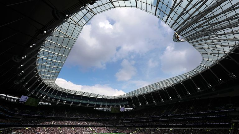 The north London derby will be played at the Tottenham Hotspur Stadium in November