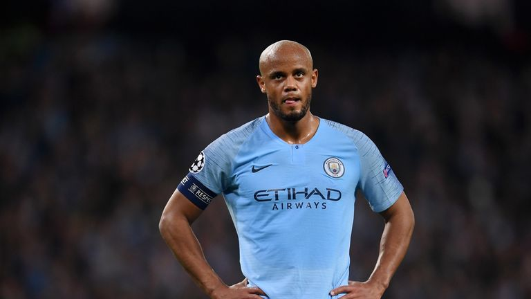 Vincent Kompany kept his place in the City defence after the Crystal Palace win
