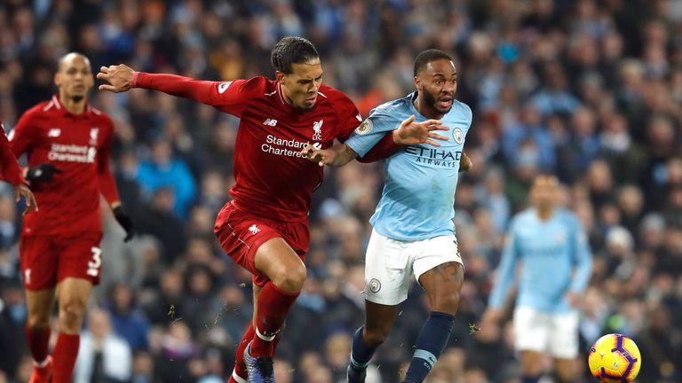 Liverpool's Virgil van Dijk and Manchester City's Raheem Sterling have both been included on the shortlist