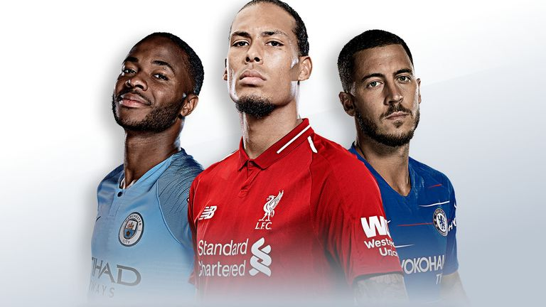2018/19 PFA Players' Player of the Year nominees: Virgil van Dijk, Raheem Sterling, Eden Hazard