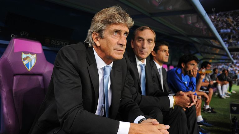 Manuel Pellegrini spent three seasons in charge of Malaga
