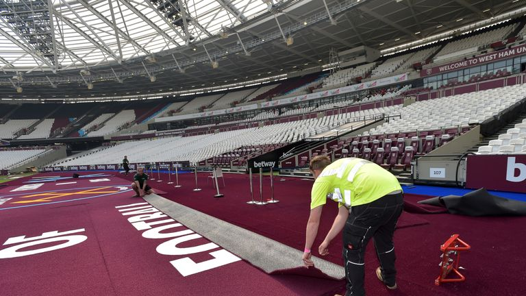 West Ham said it is 'only right' traditional club colours are prominent