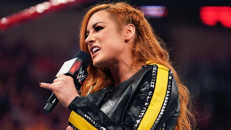 Becky Lynch completes the paperwork for her Money In The Bank title defences on tonight's Raw, which takes place at London's O2 Arena