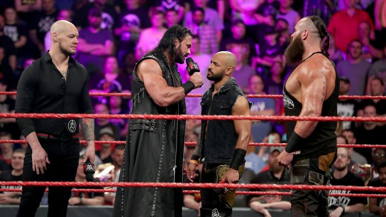 Baron Corbin, McIntyre, Ricochet and Braun Strowman will carry the Raw flag into the ladder match at Money In The Bank