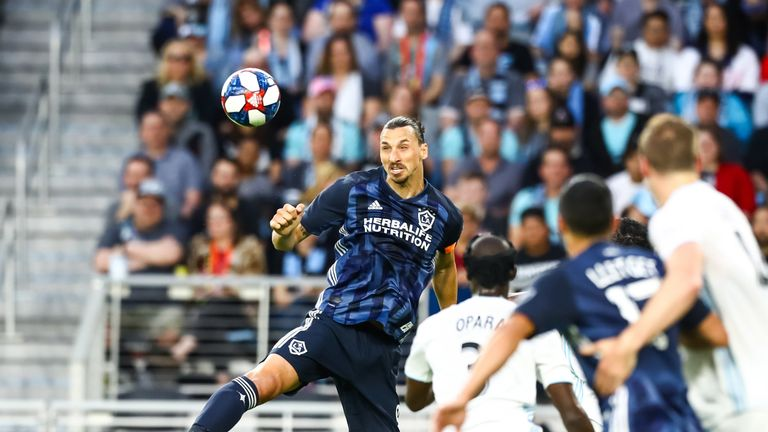 Zlatan Ibrahimovic had a tough night in front of goal for LA Galaxy