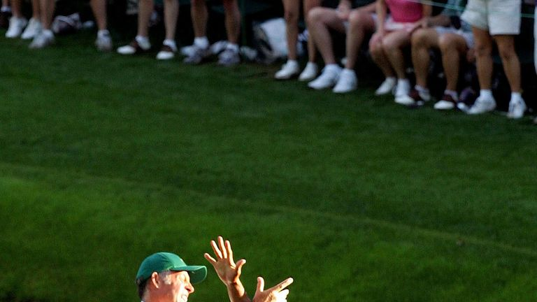 Woods' chip-in from 2005 remains one of the most memorable moments in Masters history