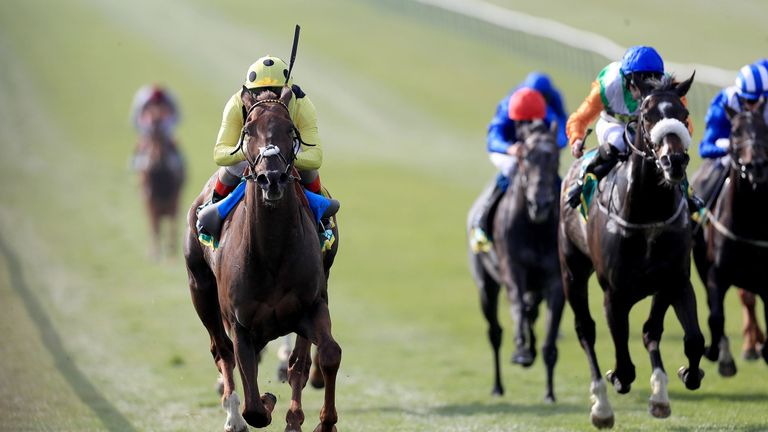 Zabeel Prince ridden by Andrea Atzeni wins the bet365 Earl Of Sefton Stakes during day three of the bet365 Craven Meeting at Newmarket Racecourse. PRESS ASSOCIATION Photo. Picture date: Thursday April 18, 2019. See PA story RACING Newmarket. Photo credit should read: Mike Egerton/PA Wire