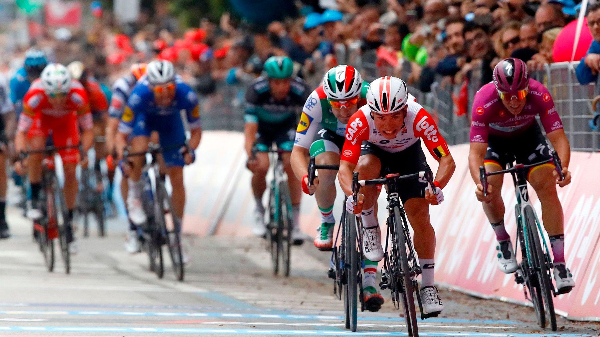 Caleb Ewan wins eighth stage on the Giro d'Italia