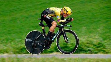 Primoz Roglic claimed the time trial ninth stage of the Giro on Sunday
