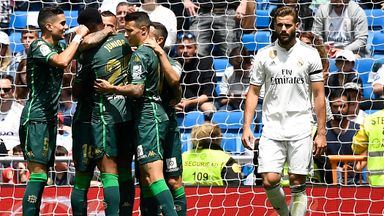 Real Madrid ended their La Liga campaign with defeat at home to Real Betis