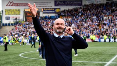 Clarke said seeing three sides of Rugby Park full was