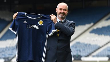 Steve Clarke is unveiled as the new Scotland manager at Hampden