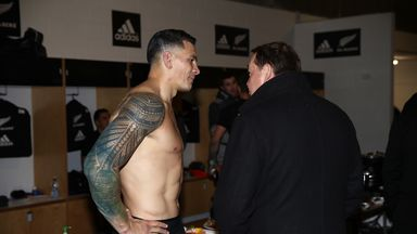 Sonny Bill Williams has played 37 of his 51 Tests under Steve Hansen