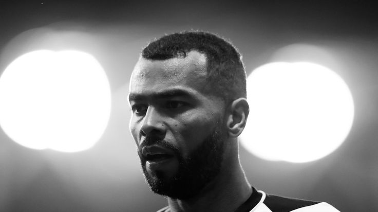 Ashley Cole in action for Derby County