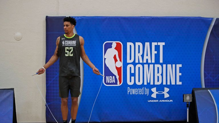 Brandon Clarke is assessed at the NBA Combine