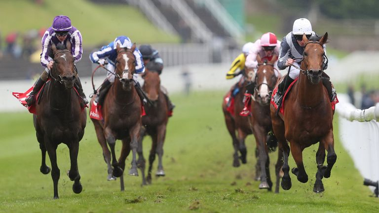 Circus Maximus ridden by Ryan Moore on their way to victory in the Homeserve Dee Stakes